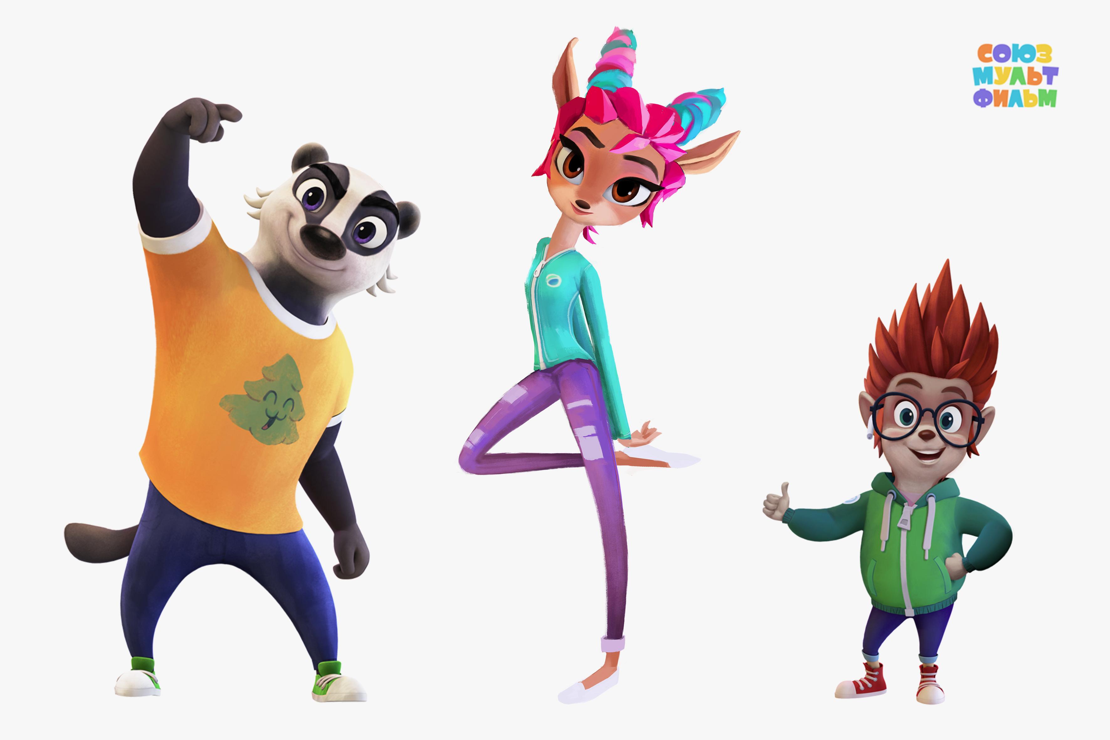 Смотрим на новых персонажей перезапуска «Ну, погоди!»: косуля, барсук и еж